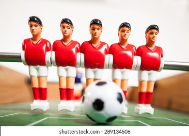 Soccer Players with ball table