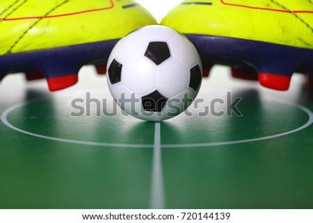 ef7d14f21 Soccer Shoes Soccer Ball Stock Photo (Edit Now) 720144139 - Shutterstock