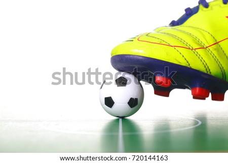 69bc2258e Soccer Shoes Soccer Ball Stock Photo (Edit Now) 720144163 - Shutterstock