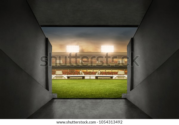 Soccer stadium entrance