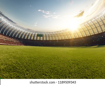Soccer stadium, photorealistic 3d illustration, 3d render