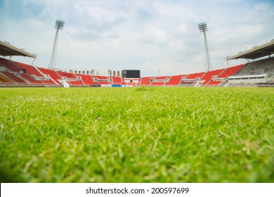 Soccer stadium for use in football match