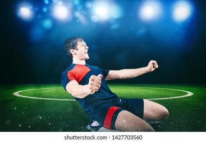Bilder Stockfotos Und Vektorgrafiken Fussball Jubel Spieler