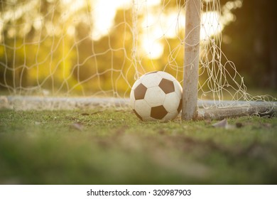 Soccer sunset