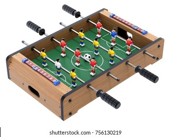 Soccer table game for kids isolated on white background - 3D illustration