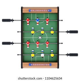 Soccer table game for kids in top view - 3D illustration
