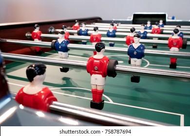 Soccer table mini game