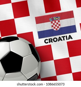 Soccer theme with Croatia country flag and soccer ball.