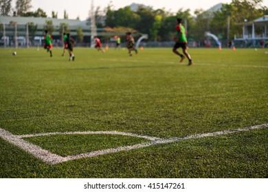 soccer training match for children
