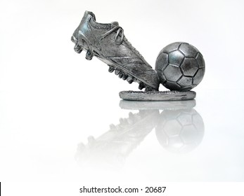 A soccer trophy