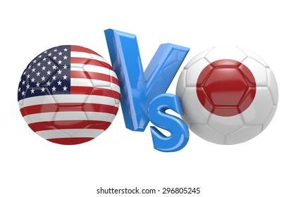 Soccer versus match between national teams United States and Japan