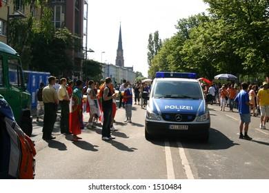 Soccer world cup fans, Frankfurt, Germany