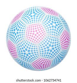 The soccerball. 3D Illustration.