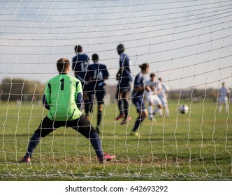 Soccer/Football Goal being scored