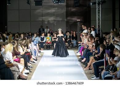 Sochi, RUSSIA - 1 May 2019: Sochi Fashion week 2019, Sochi, Russia 1-5 May 2019