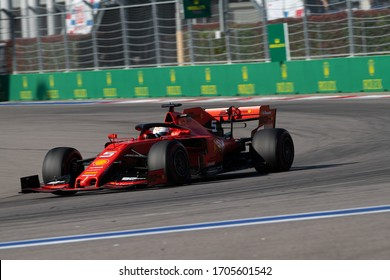 SOCHI, RUSSIA - 29 September 2019: Sebastian Vettel at Formula 1 Grand Prix of Russia 2019