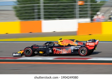 SOCHI, RUSSIA - 29 September 2019: Race Weekend at Formula 1 Grand Prix of Russia 2019