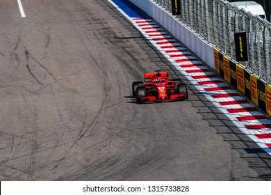 SOCHI, RUSSIA - 30 October 2018: Lewis Hamilton at Formula 1 Grand Prix Russia 2018 in Sochi