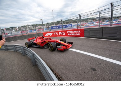 SOCHI, RUSSIA - 30 October 2018: Race Day at Formula 1 Grand Prix of Russia 2018