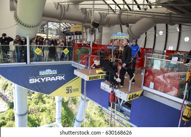 Sochi, Russia - april 29, 2017:  AJ Hackett Sky Park-Adventure park at altitude