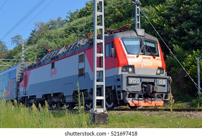 SOCHI, RUSSIA - AUGUST, 2015: High-speed six-axle passenger electric EP20-031