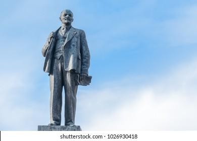 Sochi, Russia - February 15, 2018: Monument to Vladimir Ilyich Lenin Lenin
