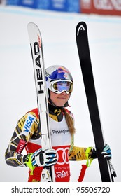 SOCHI, RUSSIA -  FEBRUARY 18: Lindsey Vonn competes in the 2011/2012 FIS Alpine Ski World Cup  on February 18, 2012 in Sochi, Rosa Khutor, Russia