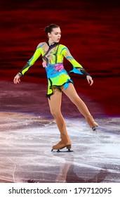 Sochi, RUSSIA - February 22, 2014: Adelina SOTNIKOVA at Figure Skating Exhibition Gala at Sochi 2014 XXII Olympic Winter Games