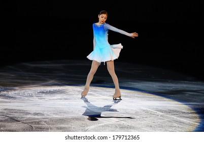 Sochi, RUSSIA - February 22, 2014: Yuna KIM at Figure Skating Exhibition Gala at Sochi 2014 XXII Olympic Winter Games
