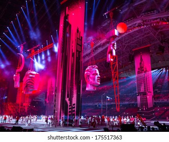 Sochi, RUSSIA  February 7, 2014: Opening ceremony of Sochi 2014 XXII Olympic Winter Games