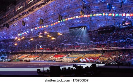 Sochi, RUSSIA - February 7, 2014: Opening ceremony of Sochi 2014 XXII Olympic Winter Games