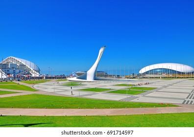 Sochi, Russia - July 6 2017 Sochi Olympic Park