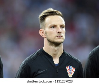 Sochi, Russia - July 7, 2018. Croatian midfielder Ivan Rakitic before World Cup Quarter-final Russia vs Croatia.