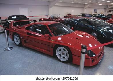 SOCHI, RUSSIA - JUNE 12, 2015: Ferrari F40 in the Sochi Auto Museum.