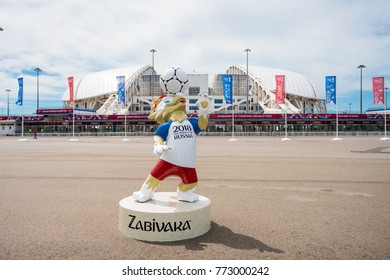 "SOCHI, RUSSIA - JUNE 18, 2017: Stadium ""Fisht"" in the Olympic Park. FIFA World Cup 2018"