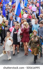 Sochi, Russia - May 1, 2015. Of the demonstration. Yana Rudkovsky is in Colon among Sochi residents