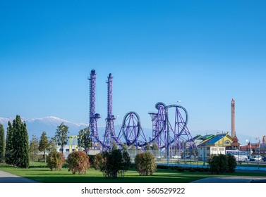 Sochi, Russia - November 27: Sochi park landscape on 27 November, 2016 in Sochi, Russia. The first theme park, which idea is based on the rich cultural and historical heritage of Russia