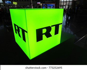 Sochi, Russia - OCTOBER 11, 2017: Russia Today (RT) logo