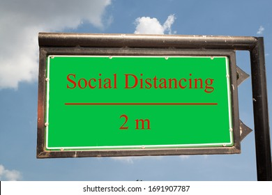 Social Distancing word on board