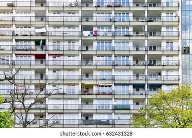 social housing, details of a skyscraper in Berlin