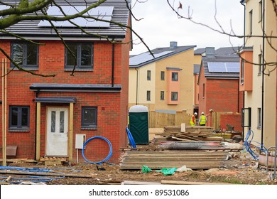Social housing development with workers