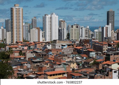 Social inequality - Favela and buildings