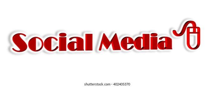 Social Media 3D Illustration