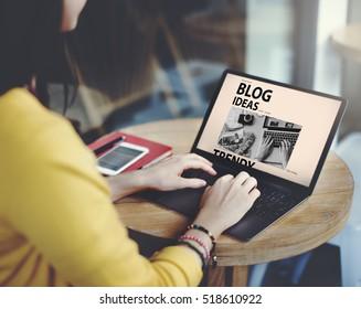 Social Media Blog Ideas Concept