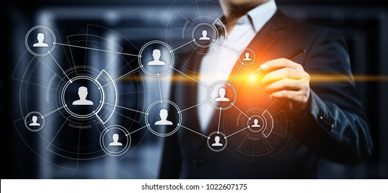 Social Media Communication Network Internet Business Technology Concept.