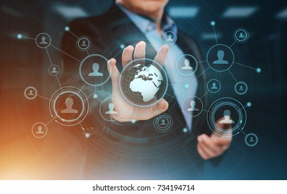 Social Media Communication Network Internet Business Technology Concept.