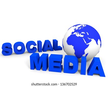 Social media concept. 3D illustration.