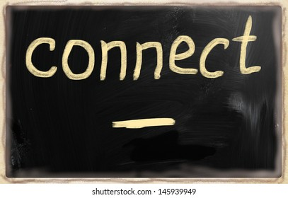 social media concept - text on a blackboard.