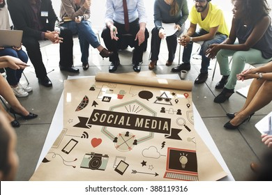 Social Media Connection Global Communication Concept