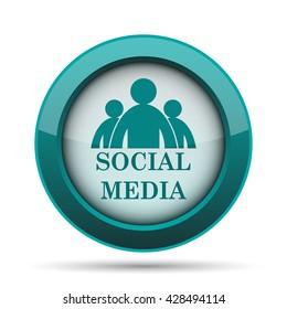 Social media icon. Internet button on white background.